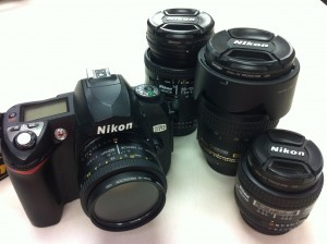 Nikon D70 and Nikkor lenses