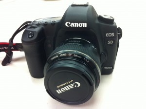Canon 5D Mark II with 28mm Lens