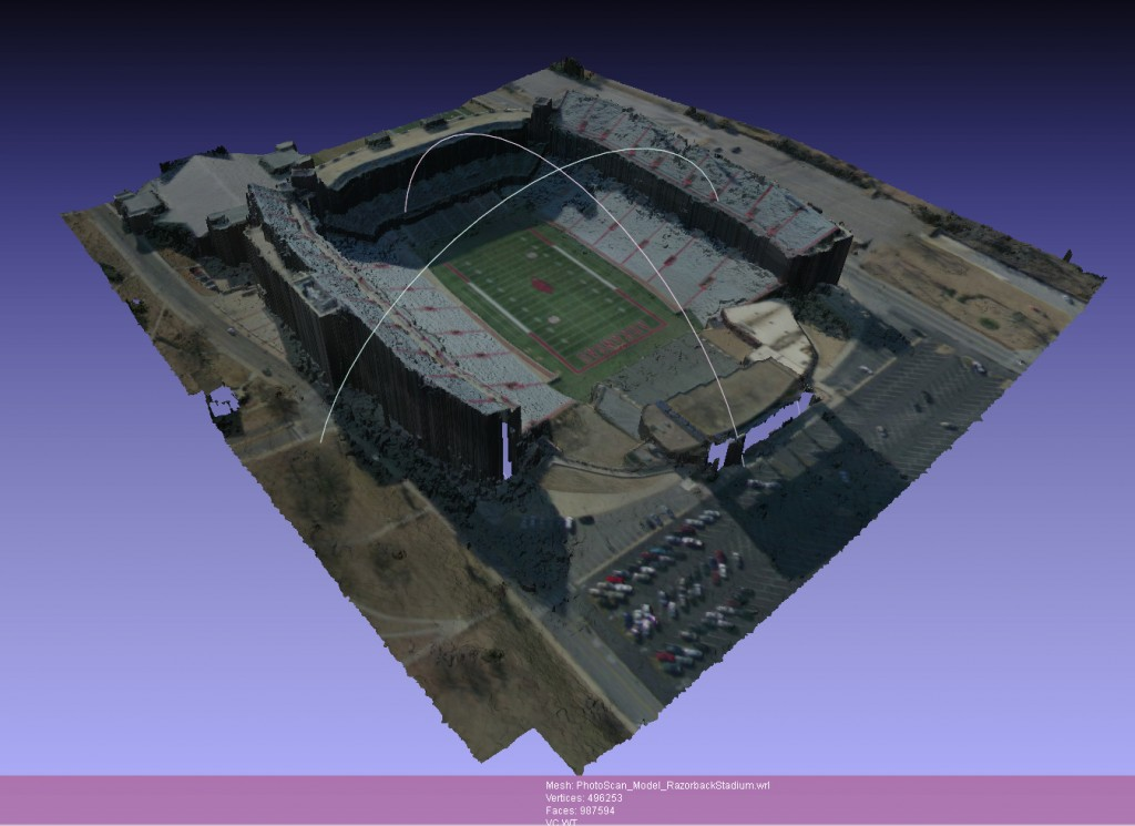 Razorback Stadium in 3D
