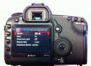 Canon 5D Mark II menu