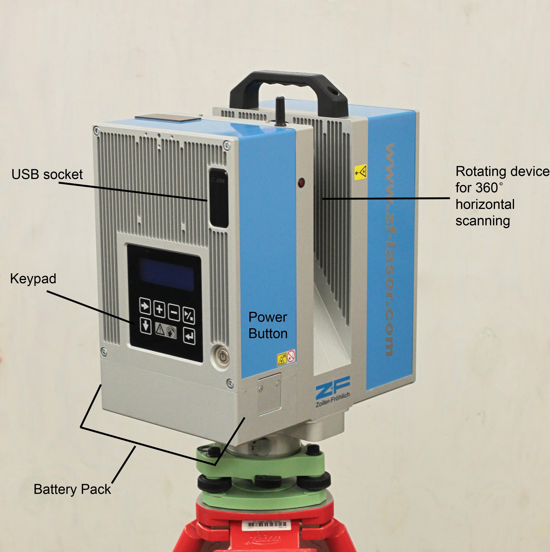 Z F Laser Scanner Workflow Setting Up The Scanner