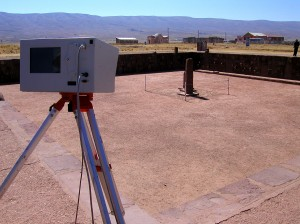 Scanning with the Optech at Tiwanaku
