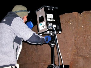 VIVID 9I scanning at Tiwanaku